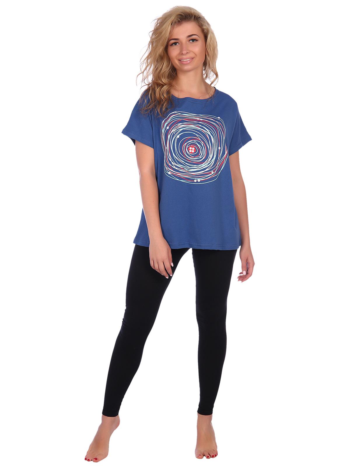 Жен. футболка арт. 16-0575 Индиго р. 62 НСД Трикотаж
