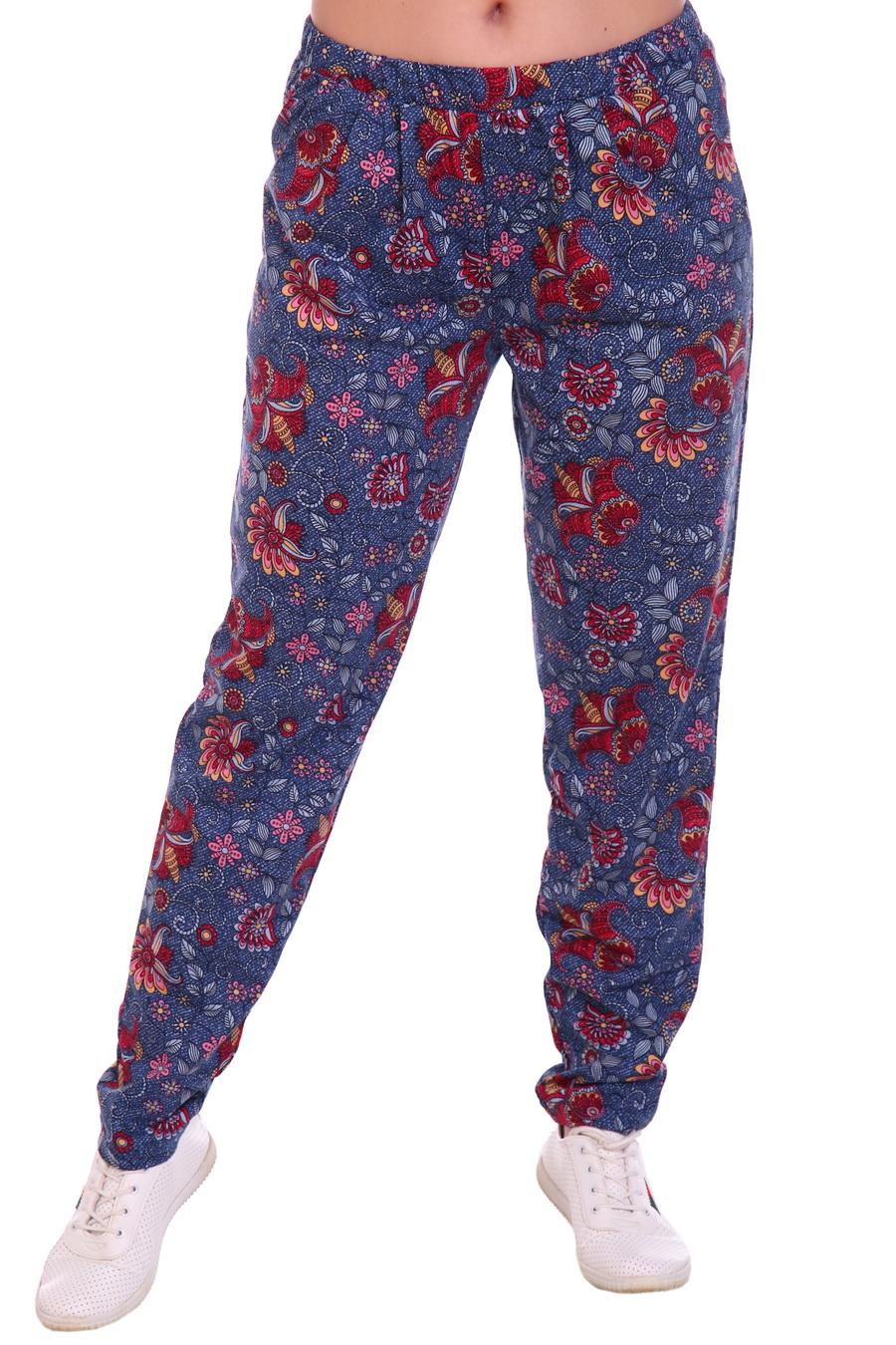 Жен. брюки арт. 17-0137 Красный р. 48 фото