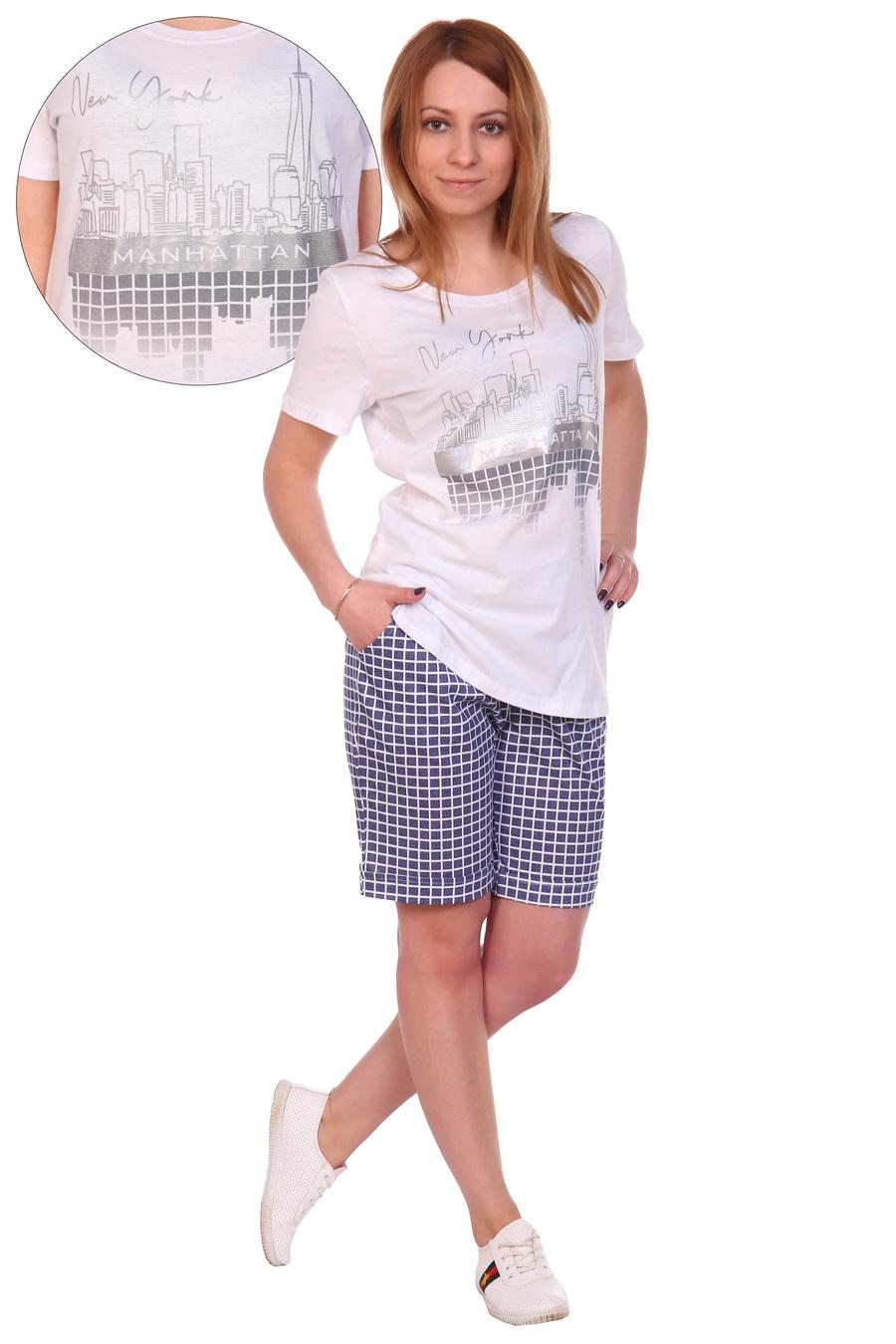 Жен. костюм арт. 17-0125 Белый р. 64 ЕленаТекс