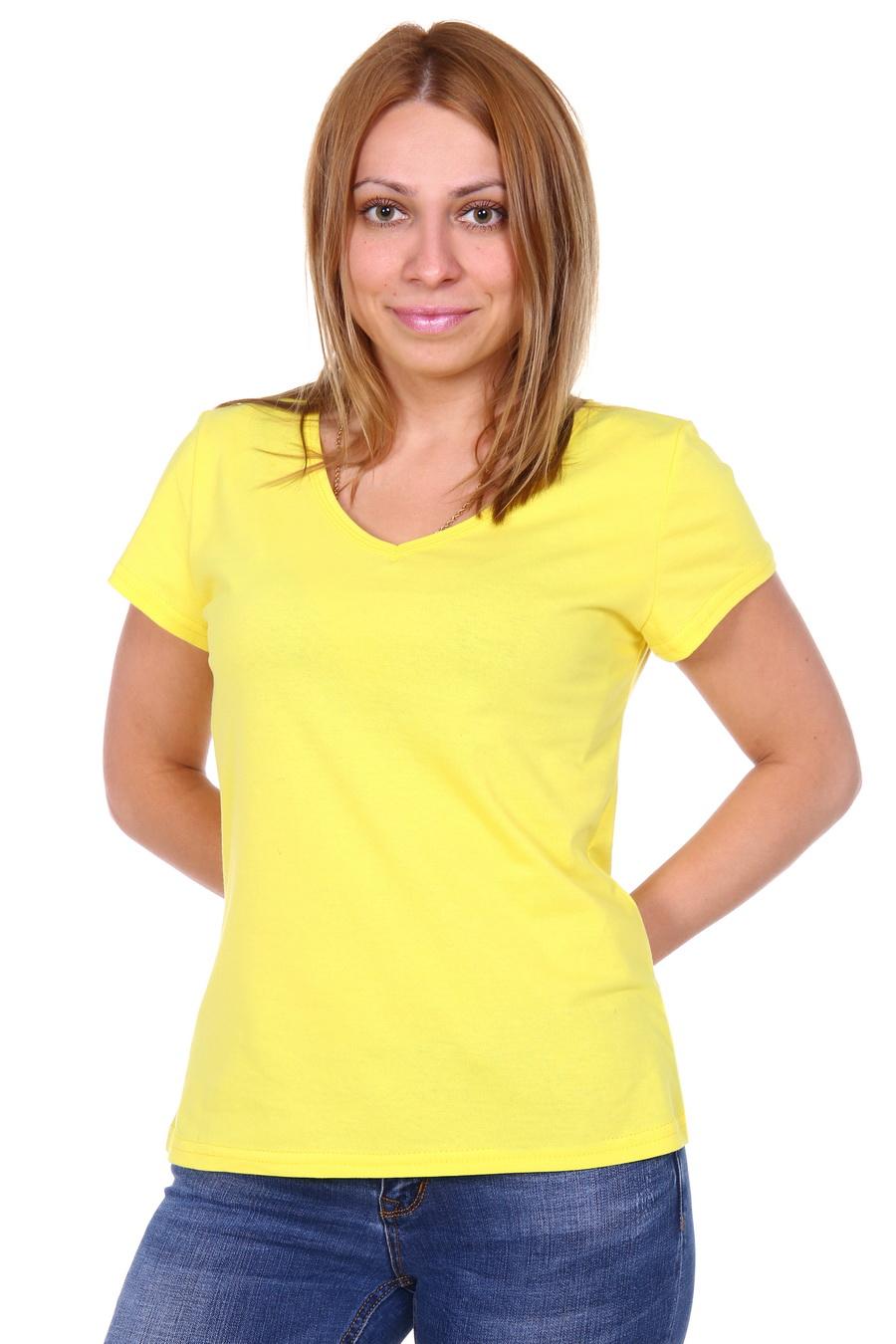 Жен. футболка арт. 17-0144 Желтый р. 46