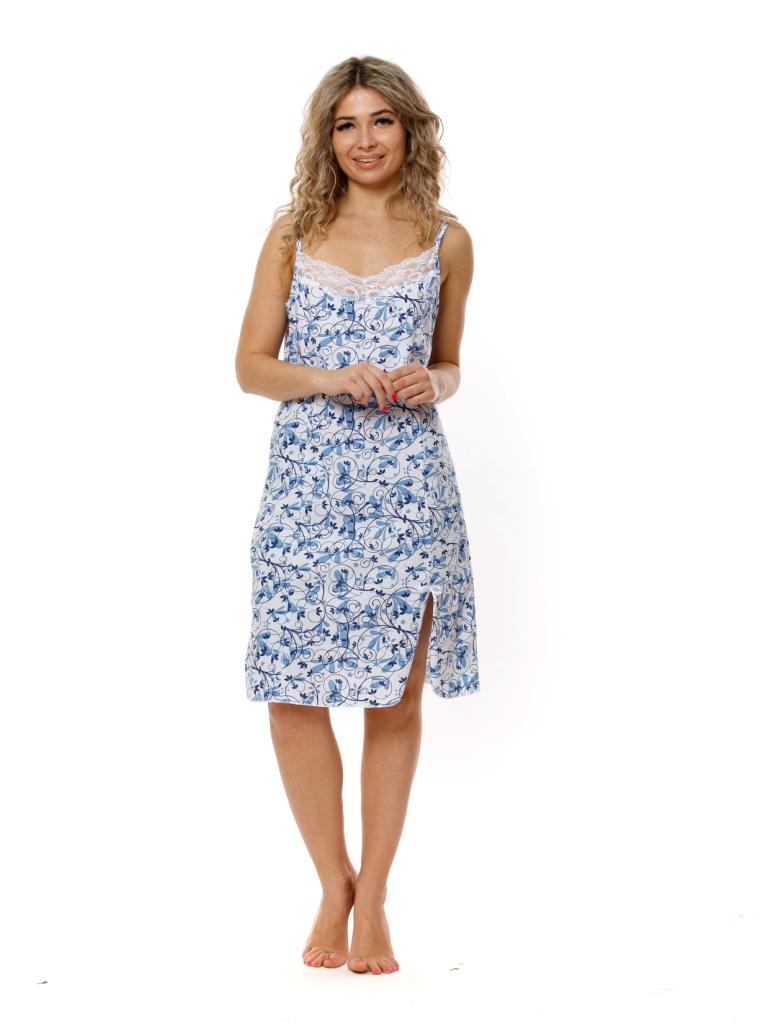 Жен. сорочка арт. 16-0763 Голубой р. 54