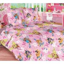 """Детский комплект постельного белья """"Волшебницы на розовом"""""""