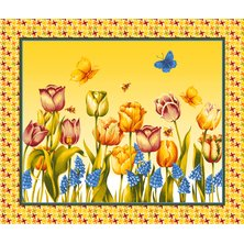 """Вафельное полотенце """"Весна"""""""