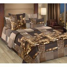 """Комплект постельного белья """"Сити в коричневом"""""""