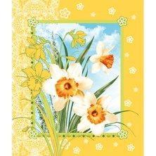 """Вафельное полотенце """"Цветы весны"""""""