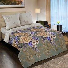 """Комплект постельного белья """"Золотая вышивка"""" + размеры с простыней на резинке"""