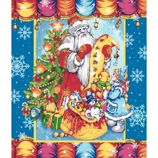 "Вафельное полотенце ""Письмо Деду Морозу"""