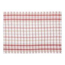 """Льняное полотенце """"Кантри"""" Красный"""