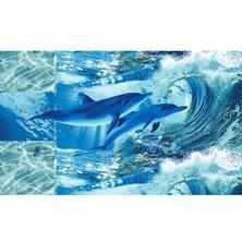 """Вафельное полотенце """"Дельфинарий"""" р. 100х150 см"""