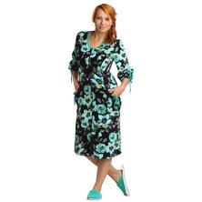Жен. халат арт. 16-0059 Зеленый р. 50