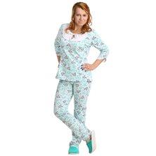 Жен. пижама арт. 16-0046 Зеленый р. 46