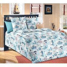 """Комплект постельного белья """"Кораблики"""" Голубой"""