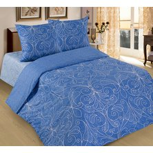 """Комплект постельного белья """"Жемчужина"""" Голубой"""