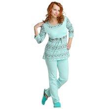 Жен. пижама арт. 16-0087 Ментол р. 44