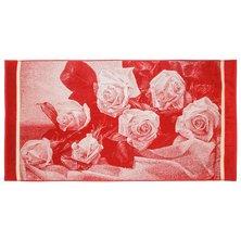 """Полотенце """"Букет роз 3D"""" Красный р. 70х140"""