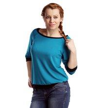 Жен. блуза арт. 16-0118 Изумрудный р. 44