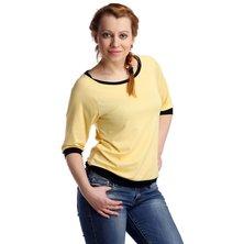 Жен. блуза арт. 16-0118 Желтый р. 44