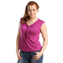 Жен. блуза арт. 16-0123 Темно-лиловый р. 44