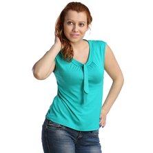 Жен. блуза арт. 16-0123 Изумрудный р. 44