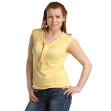 Жен. блуза арт. 16-0123 Желтый р. 44
