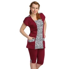 Жен. костюм арт. 16-0137 Бордовый р. 50