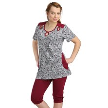 Жен. костюм арт. 16-0126 Бордовый р. 58
