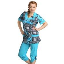 Жен. костюм арт. 16-0151 Бирюзовый р. 50