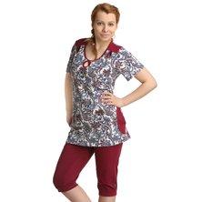 Жен. костюм арт. 16-0126 Бордовый р. 48
