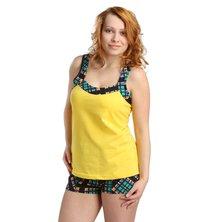 Жен. костюм арт. 16-0170 Зелено-желтый р. 44