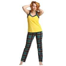 Жен. костюм арт. 16-0171 Зелено-желтый р. 44