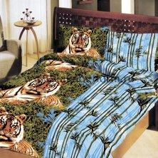 "КПБ ""Бамбук с тигром"" р. 1,5-сп."