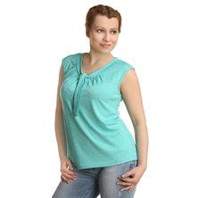 Жен. блуза арт. 16-0222 Зеленый р. 42