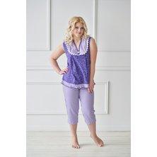 Жен. пижама арт. 19-0042 Фиолетовый р. 46