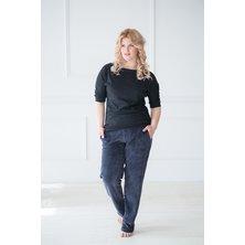 Жен. брюки арт. 19-0044 Темно-синий р. 46