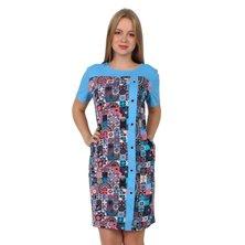 Жен. платье арт. 16-0260 Голубой р. 50