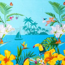 "Вафельное полотенце ""Багамы"" р. 80х150"