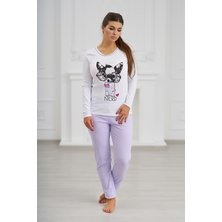 """Жен. пижама """"С брюками"""" Фиолетовый р. 42"""