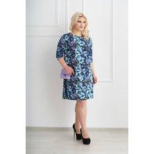 Жен. платье арт. 19-0072 Голубой р. 48