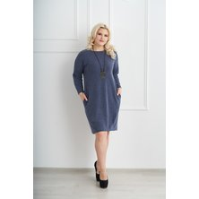 Платье арт. 19-0075 Индиго