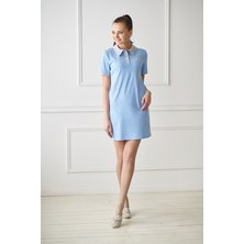 Жен. платье арт. 19-0082 Голубой р. 42