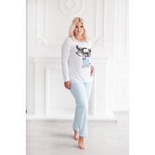 """Жен. пижама """"С брюками"""" Бирюза р. 42"""