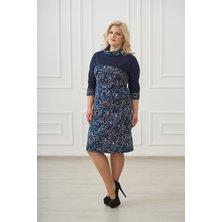 Жен. платье арт. 19-0109 Темно-синий р. 48
