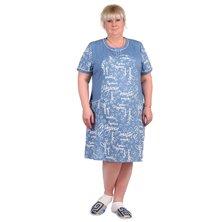 Туника-платье арт. 16-0307 Голубой