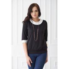 Жен. блуза арт. 19-0126 Черный р. 46