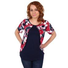 Жен. блуза арт. 16-0105 Красный р. 48