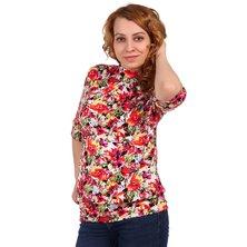 Жен. блуза арт. 16-0317 Оранжевый р. 50