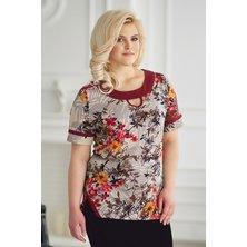 Блуза арт. 19-0146 Бордо