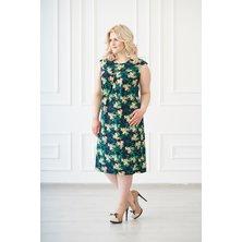 Платье арт. 19-0138 Желто-изумрудный
