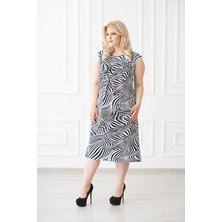 Платье арт. 19-0138 Черно-белый
