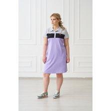 Платье-поло арт. 19-0157 Сирень